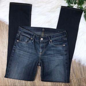 COH Ava Dark Wash Low Rise Straight Leg Jeans